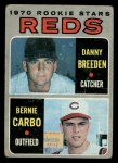 1970 Topps #36  Reds Rookie Stars  -  Danny Breeden / Bernie Carbo Front Thumbnail