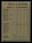 1971 Topps #199  1970 NL Playoffs - Game 1 - Cline Pinch-Triple Decides It  -  Ty Cline / Rich Hebner Back Thumbnail