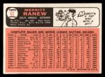 1966 Topps #62 *xSLD* Merritt Ranew  Back Thumbnail