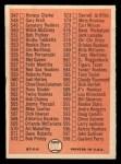 1966 Topps #517 ERR Checklist 7  Back Thumbnail
