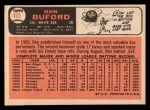 1966 Topps #465   Don Buford Back Thumbnail