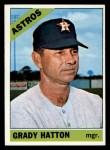 1966 Topps #504   Grady Hatton Front Thumbnail