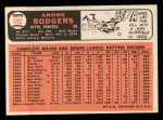 1966 Topps #592   Andre Rodgers Back Thumbnail