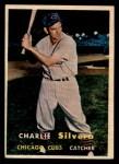 1957 Topps #255   Charlie Silvera Front Thumbnail