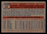 1957 Topps #98   Al Dark Back Thumbnail