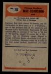 1955 Bowman #18   Max Boydston Back Thumbnail