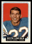 1964 Topps #164   Keith Lincoln Front Thumbnail