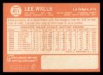1964 Topps #411  Lee Walls  Back Thumbnail