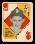 1951 Topps Red Back #43   Mickey McDermott Front Thumbnail