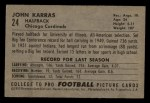 1952 Bowman Small #24   John Karras Back Thumbnail