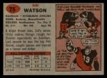 1957 Topps #75  Sid Watson  Back Thumbnail