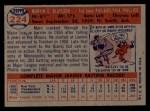 1957 Topps #224   Marv Blaylock Back Thumbnail