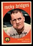 1959 Topps #318   Rocky Bridges Front Thumbnail