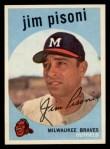 1959 Topps #259  Jim Pisoni  Front Thumbnail