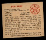 1950 Bowman #61  Bob Rush  Back Thumbnail