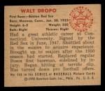 1950 Bowman #246  Walt Dropo  Back Thumbnail