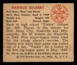 1950 Bowman #235  Tookie Gilbert  Back Thumbnail