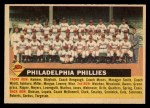 1956 Topps #72 LFT  Phillies Team Front Thumbnail