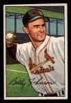 1952 Bowman #122   Billy Johnson Front Thumbnail
