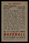 1951 Bowman #211   Hal Jeffcoat Back Thumbnail