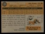 1960 Topps #133   -  Manuel Javier Rookie Star Back Thumbnail