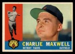 1960 Topps #443   Charlie Maxwell Front Thumbnail