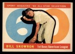 1960 Topps #553  All-Star  -  Bill Skowron Front Thumbnail