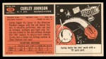 1965 Topps #119   Curley Johnson Back Thumbnail