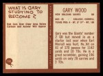 1967 Philadelphia #131  Gary Wood  Back Thumbnail