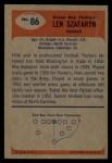 1955 Bowman #86  Len Szafaryn  Back Thumbnail