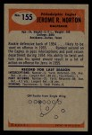 1955 Bowman #155  Jerry Norton  Back Thumbnail