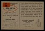 1954 Bowman #66   Bob Hantla Back Thumbnail