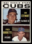 1964 Topps #408   -  Jim Stewart / Fred Burdette Cubs Rookies Front Thumbnail
