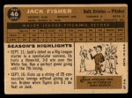 1960 Topps #46  Jack Fisher  Back Thumbnail