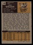 1971 Topps #189   Dave Wilcox Back Thumbnail