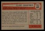 1954 Bowman #69  Clint Courtney  Back Thumbnail