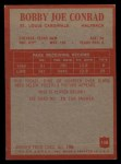 1965 Philadelphia #158  Bobby Joe Conrad  Back Thumbnail