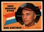 1960 Topps #129  Rookies  -  Bob Hartman Front Thumbnail