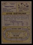 1974 Topps #194   Otis Sistrunk Back Thumbnail