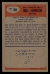 1955 Bowman #46   Billy Johnson Back Thumbnail