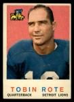 1959 Topps #170  Tobin Rote  Front Thumbnail