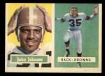1957 Topps #16   John Johnson Front Thumbnail