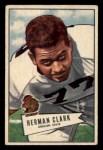 1952 Bowman Small #76   Herman Clark Front Thumbnail