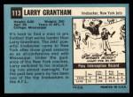 1964 Topps #113   Larry Grantham Back Thumbnail