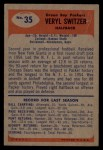 1955 Bowman #35   Veryl Switzer Back Thumbnail