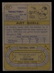 1974 Topps #272  Art Shell  Back Thumbnail