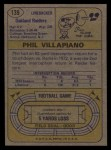 1974 Topps #139  All-Pro  -  Phil Villapiano  Back Thumbnail