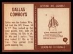 1967 Philadelphia #49   Dallas Cowboys Team Back Thumbnail