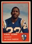 1963 Fleer #69   Paul Lowe Front Thumbnail