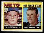 1967 Topps #287  Mets Rookies  -  Greg Goossen / Bart Shirley Front Thumbnail